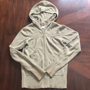 North Face zip up hooded sweater.